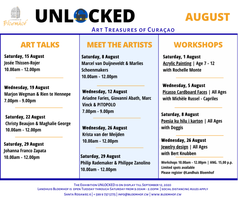 UNLOCKED SPECIAL EVENTS AUGUST